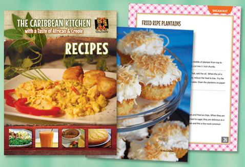 Caribbean Recipes Cookbook Design