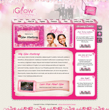 Girls Mentoring Website Design
