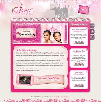 Girls Mentoring Website Design