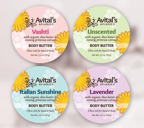 Body Butter Label Design