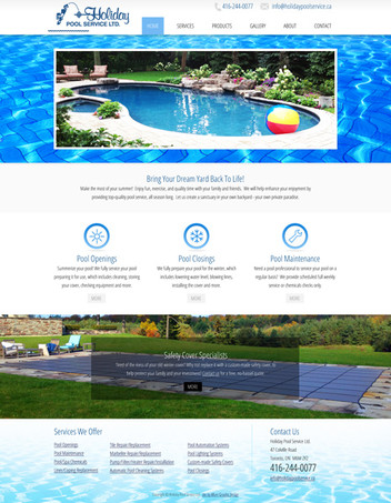 Pool Company Website Design