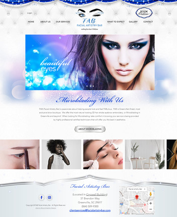Microblading Services Website Design
