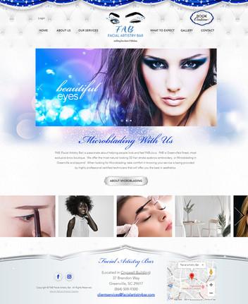 Microblading Services Website Design