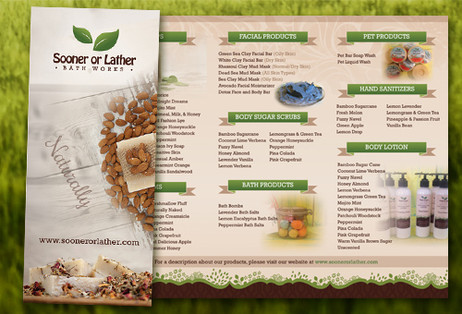 Homemade Body Products Brochure Design