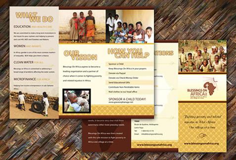 Africa Charity Brochure Design