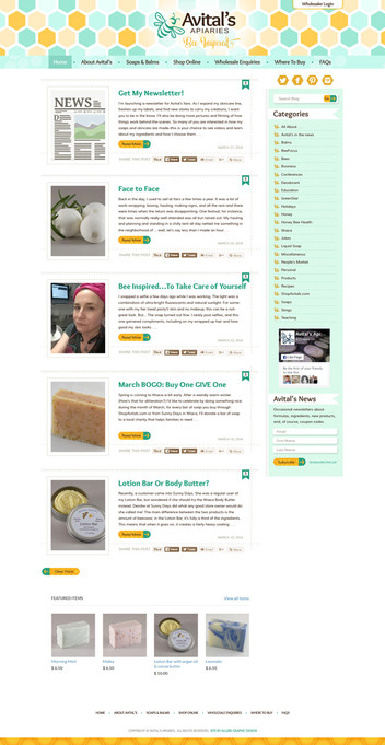 Bee Keeper Blog Website Design
