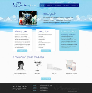 Dry Ice Website Design