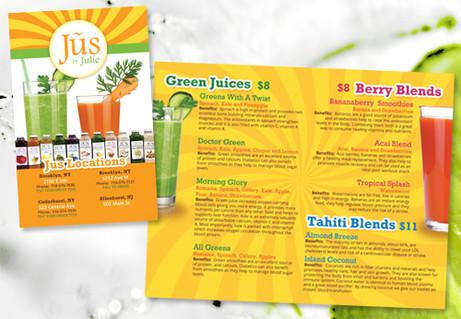 Juice Menu Design