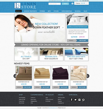 Linen Online Store Website Design