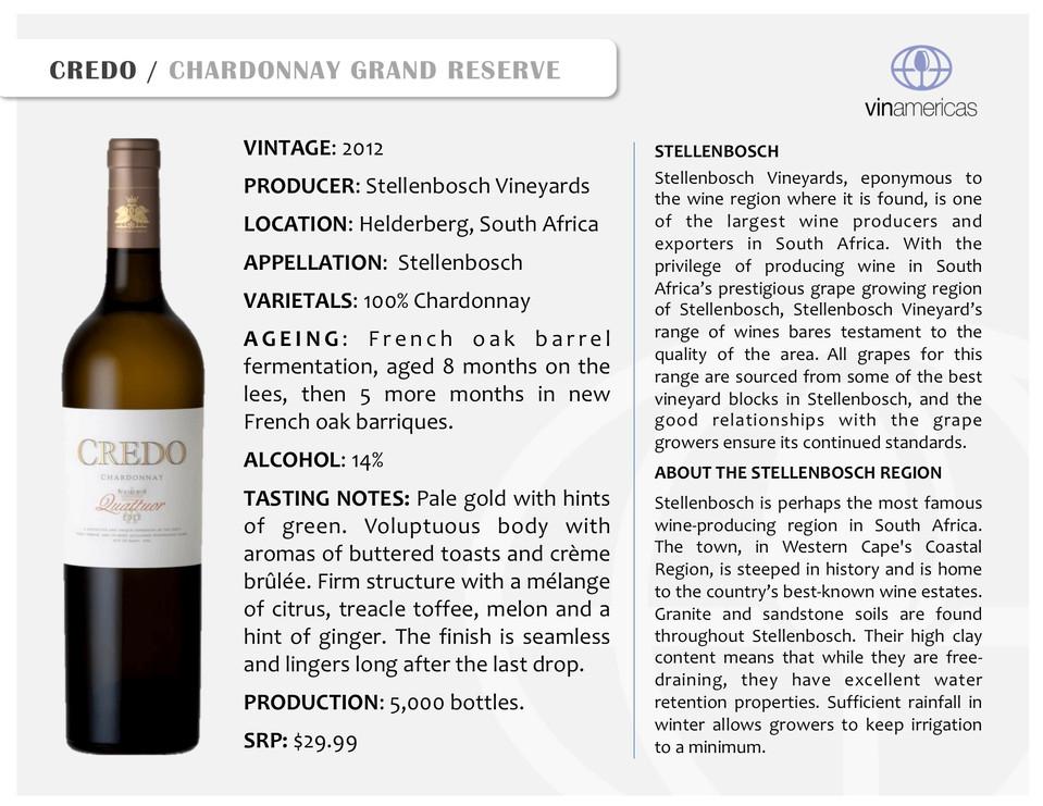 CREDO | CHARDONNAY GRAND RESERVE
