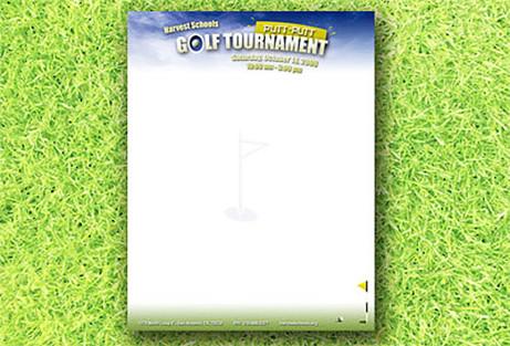 Golf Tournament Letterhead Design
