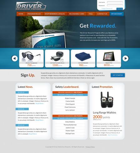 Driver Rewards Website Design
