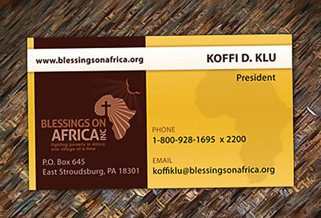 Africa Charity Business Card Design