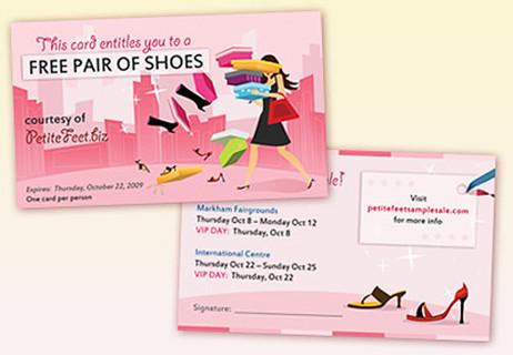 Shoe Sale Coupon Design