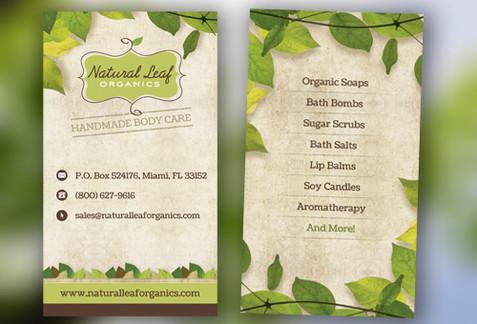 Organic Business Card Design