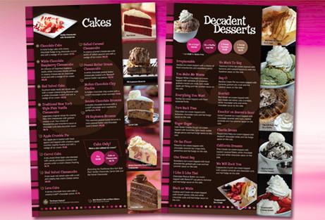 Dessert Cafe Menu Design