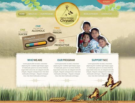 Native Indian Aboriginal Website Design
