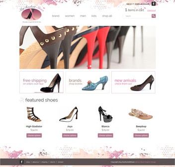 Shoe Online Store Website Design