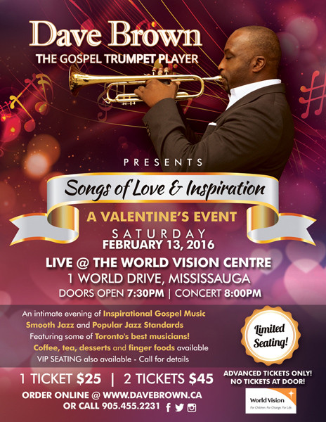 Trumpet Player Event Flyer Design