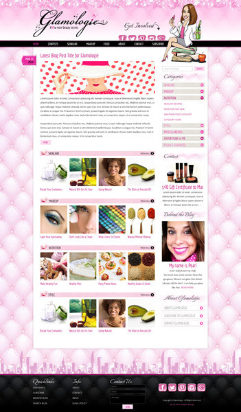 Beauty Blog Website Design