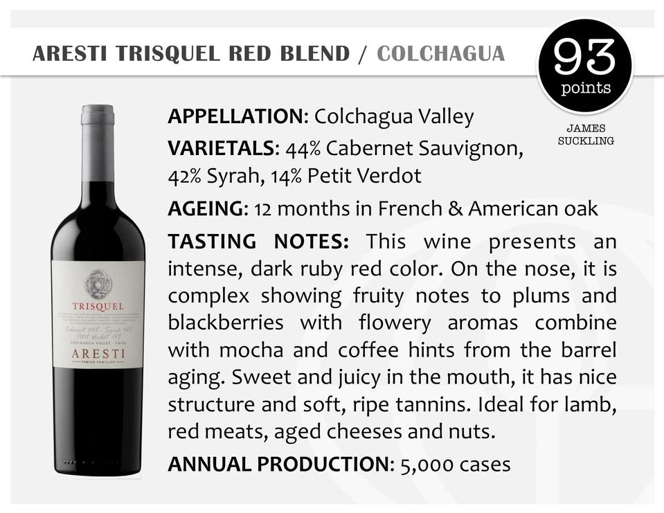 ARESTI TRISQUEL RED BLEND | COLCHAGUA