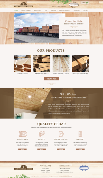 Cedar Wood Lumber Website