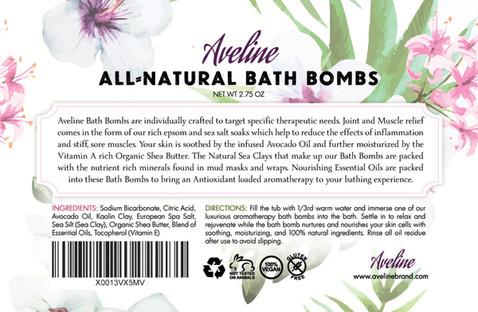 Bath Bomb Label Design