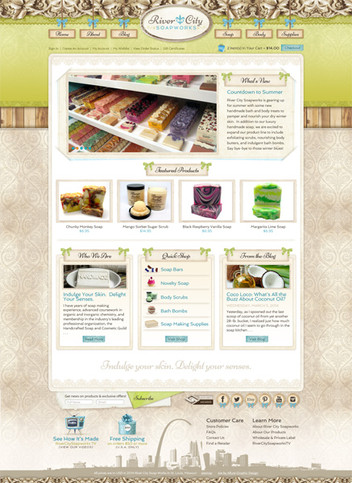 Bath and Body Website Design