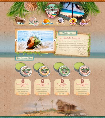 Body Care Website Design
