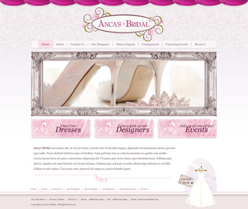 Bridal Store Website Design