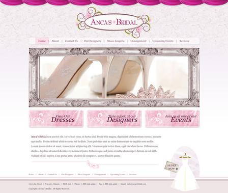 Bridal Store Website Design