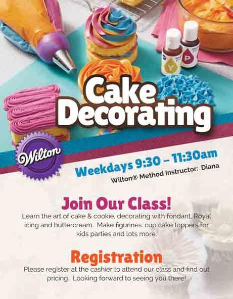 Cake Decorating Class Flyer Design