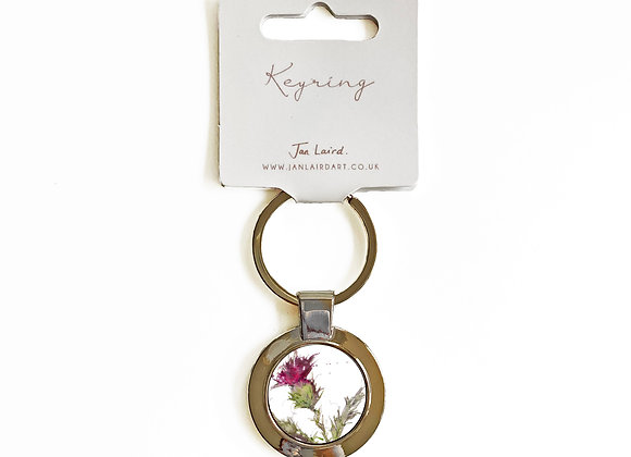 Thistle Only keyring