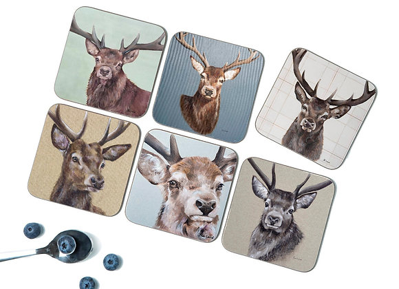 Stag Pack of 6 Coasters/Placemats