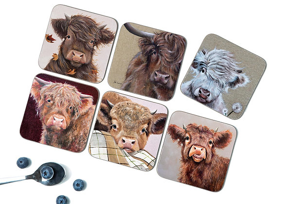 Autumn Pack of 6 Coasters/Placemats
