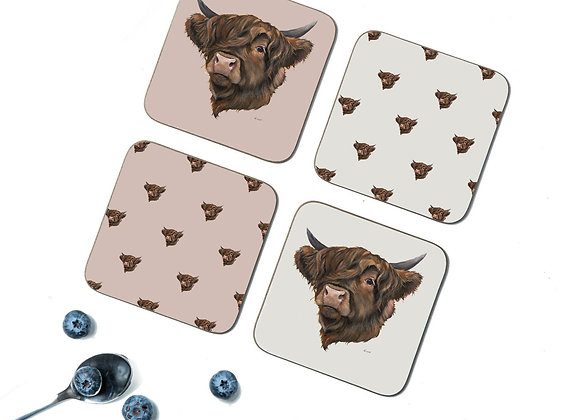 Hetty Pack of 4 Coasters/Placemats