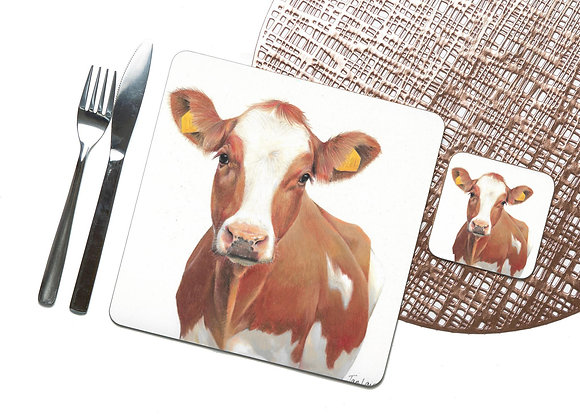 Ayrshire Cow Coaster / Placemat