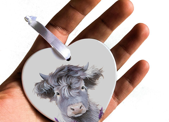 Drovers Gin Heart Ceramic Decoration