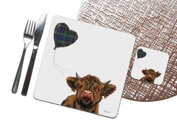 Tartan Heart Coaster / Placemat