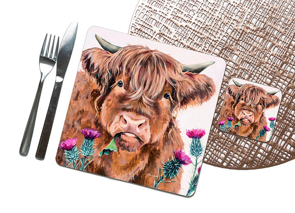 Thistle Do Coaster / Placemat