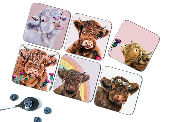 Summer Pack of 6 Coasters/Placemats