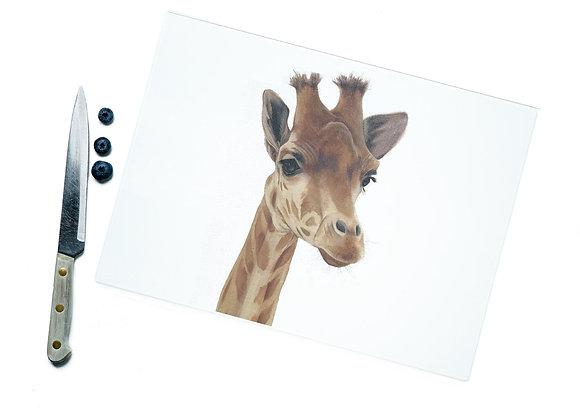Giraffe Glass Cutting Board