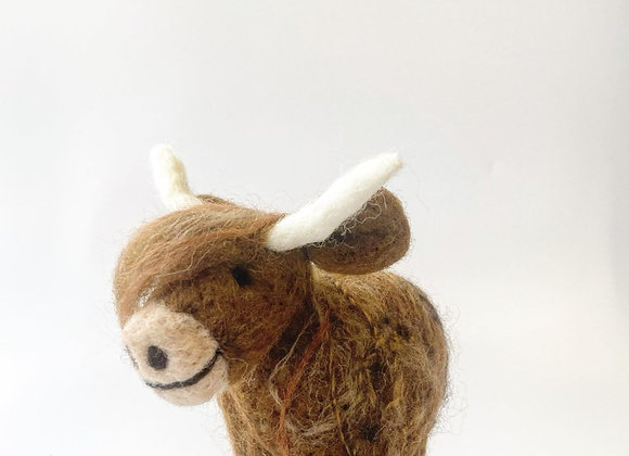 Highland Cow Felt Kit & Ceramic Charm