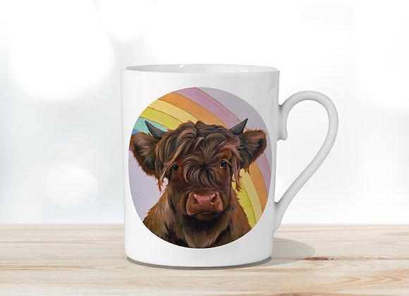 Rainbow Fine Bone China Mug