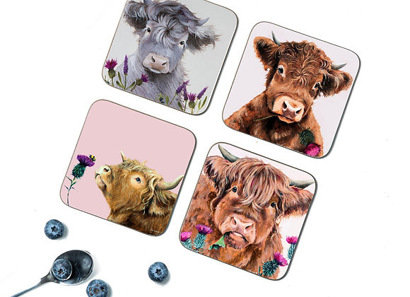 Thistle Pack of 4 Coasters/Placemats