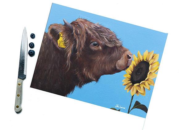 Sunflower Glass Cutting Board