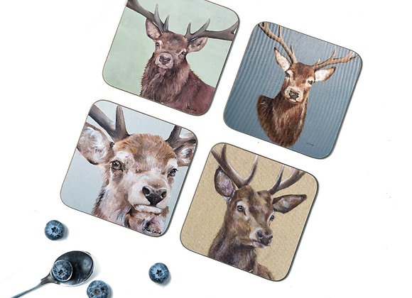 Stag Pack of 4 Coasters/Placemats