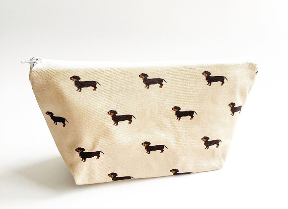 Nude Dachshund Cosmetic Bag