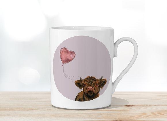 Love Heart Fine Bone China Mug