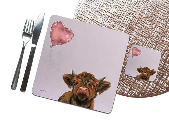 Love Heart Coaster / Placemat